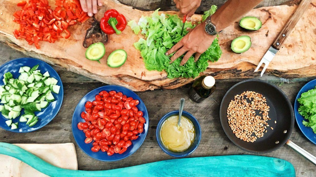 verdure in preparazione